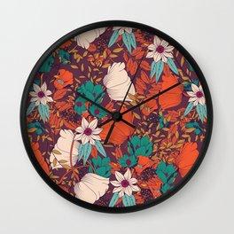 Botanical pattern 010 Wall Clock