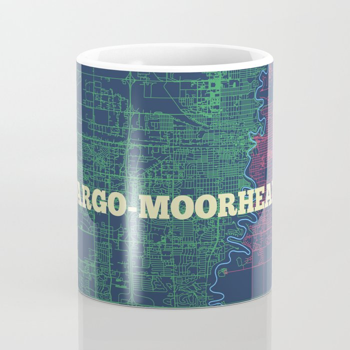 Fargo-Moorhead Street Map Coffee Mug