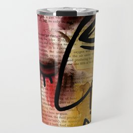 """Funky Face Abstract, """"I See 38"""" by Kathy morton Stanion Travel Mug"""