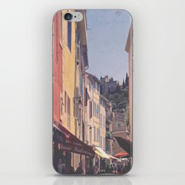 A Street In Cassis iPhone Skin
