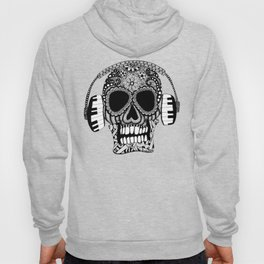Tangled Skull with Headphones Hoody