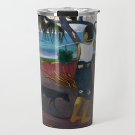 Under the Pandanus by Paul Gauguin Travel Mug