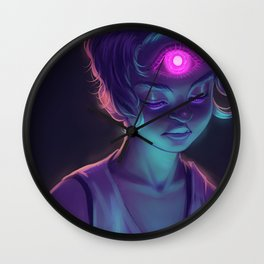 Third Eye (#Drawlloween2016 Series) Wall Clock
