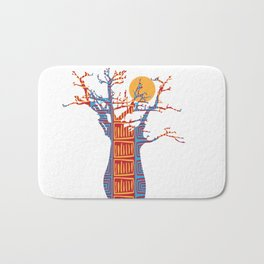 African Baobab tree of life at Sunset Bath Mat