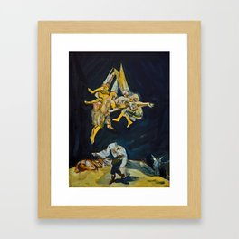 Flight of the Witches  Framed Art Print
