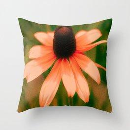 Vibrant Orange Coneflower Throw Pillow