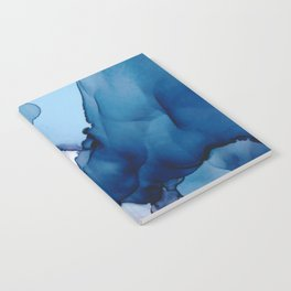 Saphire soft abstract watercolor fluid ink painting Notebook