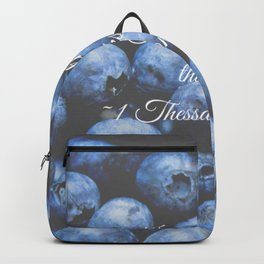 In everything give thanks. Bible Verse. Blueberries Backpack