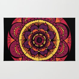 Colored Mandala Rug