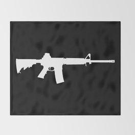AR-15 (on black) Throw Blanket