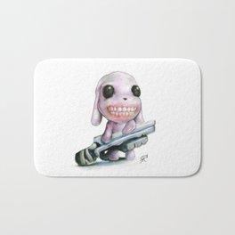 Little Dog..Big Gun | Illustration Painting Bath Mat