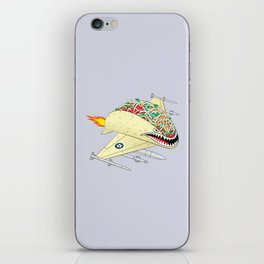 Taco Fighter Jet iPhone Skin