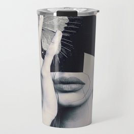 collage art / butterfly Travel Mug