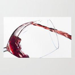 Elegant Red Wine Photo Rug