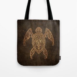 Intricate Vintage and Cracked Sea Turtle Tote Bag