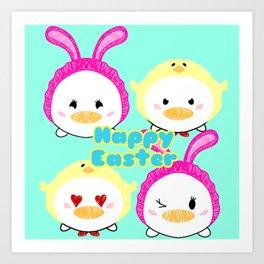 Easter Ducks Art Print