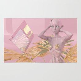 Pastel Humanoid Diskette Rug
