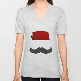 Man with a Fez Unisex V-Neck