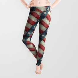 Texas flag Leggings