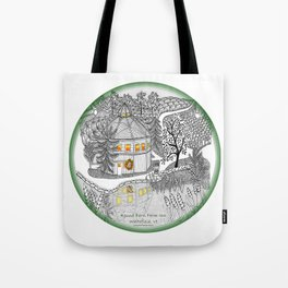 Round Barn Inn, Waitsfield, Vermont near Sugarbush- Zentangle illustration Tote Bag
