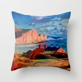 Dover in the Colors Of Ayers Rock Throw Pillow