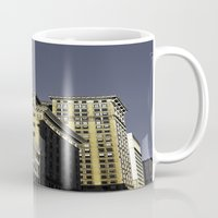 buildings Mugs featuring BUILDINGS by detroit vibes