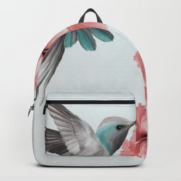 Hummingbird with Hibiscus Backpack