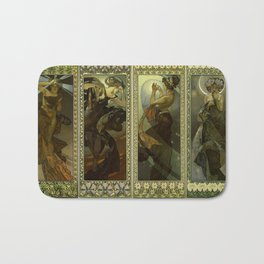"Alphonse Mucha ""The Moon and the Stars Series"" Bath Mat"