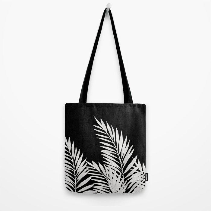 Palm Leaves White Tote Bag
