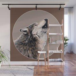 Grey wolf Wall Mural