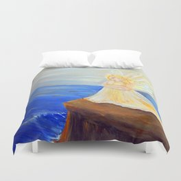 Invite your Angel | Angels are here Duvet Cover