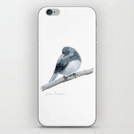 The Bashful Black-Eyed Junco by Teresa Thompson iPhone Skin