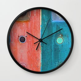 switch and plug on an electrical panel Wall Clock