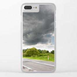 Biebrza road landscape Clear iPhone Case