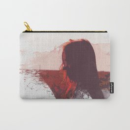 Sunset Girl Carry-All Pouch
