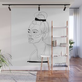 B&W Sketch Wall Mural