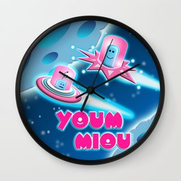 Ubi and Orbi Blue Space Wall Clock