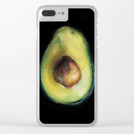 Brooke Figer - Avocado Clear iPhone Case