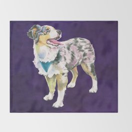 Toy Australian Shepherd Throw Blanket