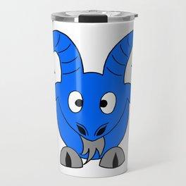 Drawing cartoon of a male goat Travel Mug
