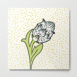 Vintage flower bud Metal Print