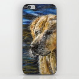 One Wet Golden Retriever by Teresa Thompson iPhone Skin