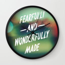 Fearfully and Wonderfully Made 2.0 Wall Clock