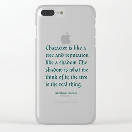 Tree of Character VINTAGE BLUE / Deep thoughts by Abe Lincoln Clear iPhone Case