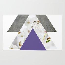 Ultra Violet Blossoms Arrows Rug