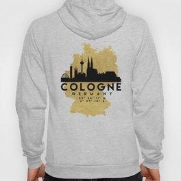 COLOGNE GERMANY SILHOUETTE SKYLINE MAP ART Hoody