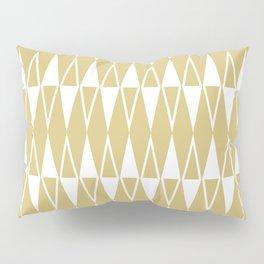 Mid Century Modern Diamond Pattern Gold 234 Pillow Sham