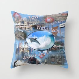 Greetings from Cape Town Throw Pillow