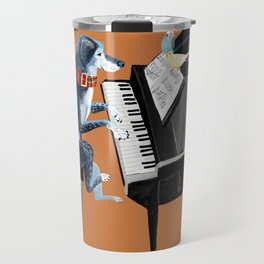Piano lesson ( Doggy Art ) Travel Mug