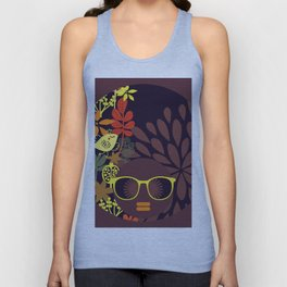 Afro Diva : Sophisticated Lady Deep Unisex Tank Top